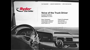 100 Ryder Truck Driving Jobs Presents Voice Of The Driver YouTube