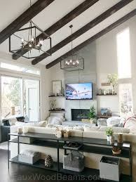 100 Rustic Ceiling Beams How A Home Decor Can Pay Off Faux Wood Workshop