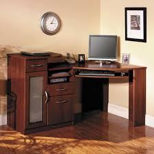 Sauder Parklane Collection Computer Desk Cinnamon Cherry by Furniture L Shaped Desks With Hutch Desks Wayfair Sauder