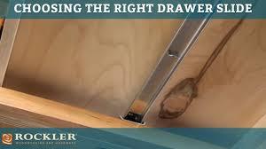 Dresser Drawer Slides Center Bottom Mount by Drawer Slide Tutorial Choosing The Right Drawer Slide Youtube
