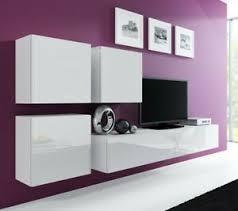 details zu wohnwand bruno 23 tv lowboard mdf hängend farbauswahl hochglanz hängwand