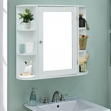 costway wandschrank badezimmer spiegelschrank mit spiegeltür