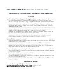Certified Personal Trainer Resume Entry Sample Ace