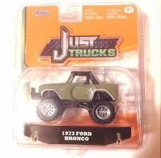 Sale Jada 1:64 Just Trucks 1973 Ford Bronco Pickup Flat Green #026 Store