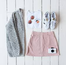 Urban Outfitters Summer Pink Corduroy A Line Skirt