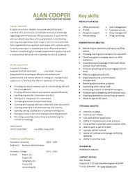 Sample Admin Resumes Resume Template Administrative Assistant Australia