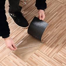 Wood Grain Adhesive Plastic Pvc Flooring