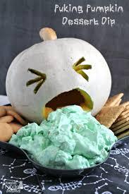 Puking Pumpkin Carving Ideas by Frugal Foodie Mama Puking Pumpkin Dessert Dip