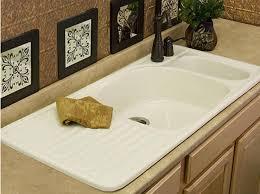 Overmount Double Kitchen Sink by Farmhouse Drainboard Sinks Retro Renovation