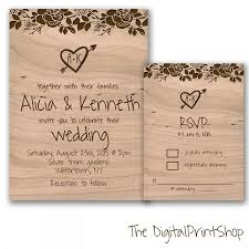 Barn Party Wedding Invitations Rustic Reception Only