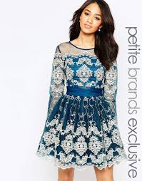 chi chi london petite metallic lace long sleeve prom dress would