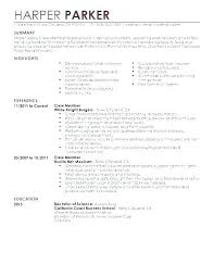 Cocktail Server Resume Best Sample Waiter Example Waitress Of