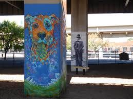 Deep Ellum 42 Murals by Bark Park Dallas Texas Near Deep Ellum Dog Park Built Under A