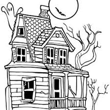 House Creepy Haunted In Houses Coloring Page