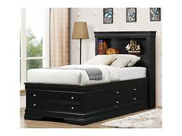 Simple Bedroom with Bernard Black Full Size Storage Bed Black
