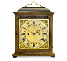 Bulova Table Clocks Wood by Joseph Knibb An Olivewood Table Clock London Circa 1685