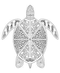 Sea Turtle Printable Adult Coloring Page