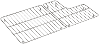 Stainless Steel Sink Grid 24 X 12 by Kohler 2 Piece Whitehaven Stainless Steel Rack For Whitehaven K
