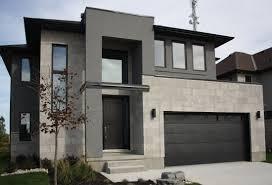 100 Modern Stucco House Casa De Un Solo Piso Presentamos Una Fachada Que Combina