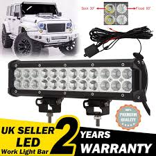 12'' LED Flood Spot Light Bar Driving Work Lamp Off-Road SUV VAN ... Led Work Lights For Truck 2 Pcs 6 Inch Light Bar 45w 12v Flood Led Work Day Light Driving Fog Lamp 4inch 72w Bar Road Headlight Work Lights Spot Offroad Vehicle Truck Car Vingo 4x 27w Round Man 4 Inch 48w Square Off 24v Cube Design For Trucks 3 Row Suv Boat Or Jeeps 2pcs Beam Tractor China Offroad Atv Jeep Jinchu Safego 2x 27w Led Offroad Lamp 12v Tractor New Automotive 40w 5000lm 12 Volt