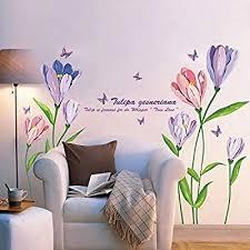 schlafzimmer wohnzimmer dekoration schmetterling blumen