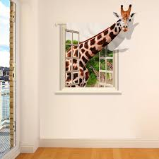 Online Shop Giraffe 3D Wall Stickers Living Room Sofa Background PVC Transparent Film Can Remove Home Decoration Child Mural