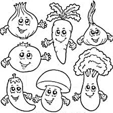 Vegetables Coloring Pictures For Preschoolers All