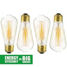 sale edison bulb 4 pack st64 squirrel cage filament