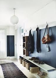 navy blue hallway with globe pendant l nest building