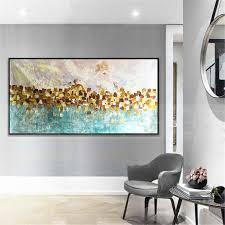 gold kunst abstrakte gemälde auf leinwand wand kunst bild