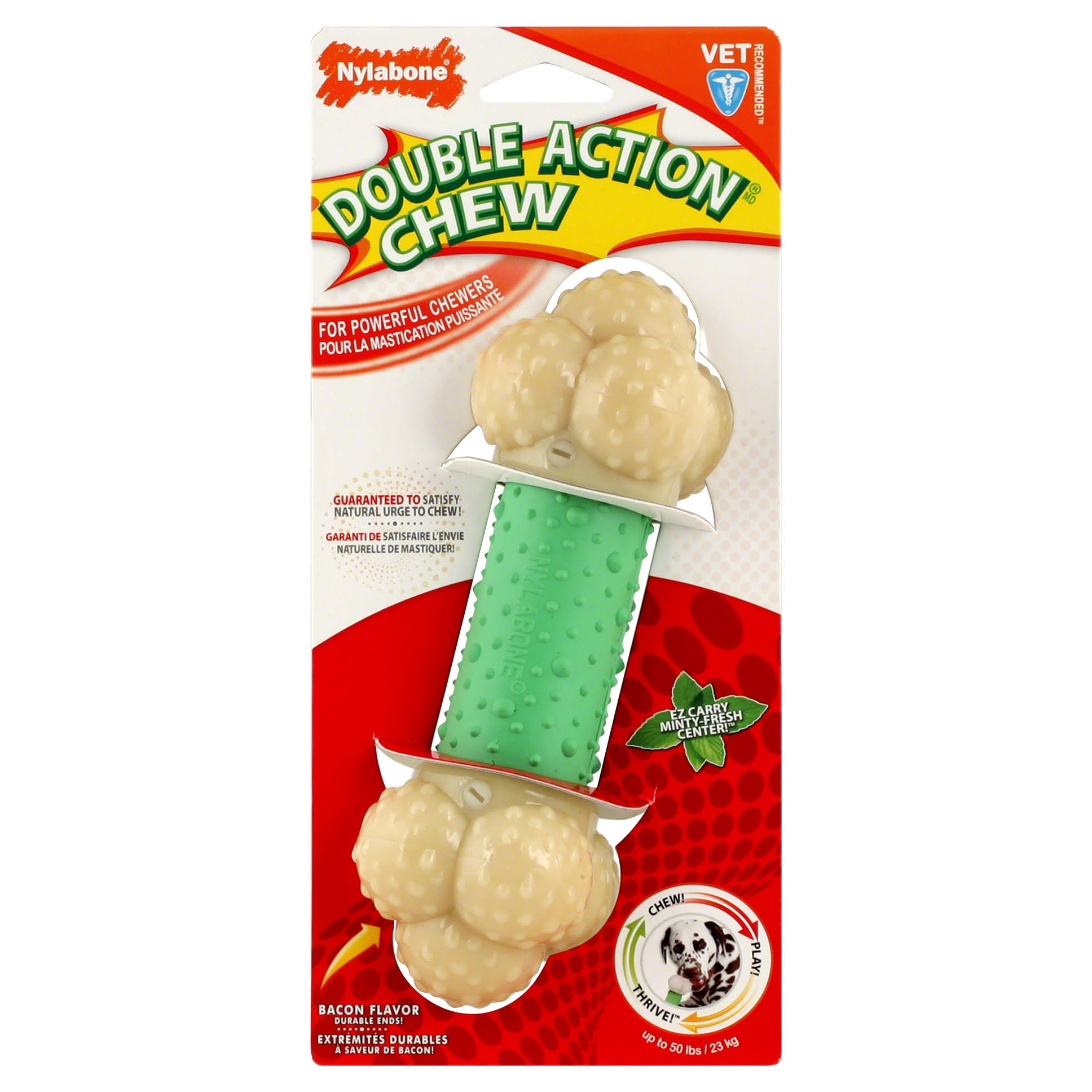 Nylabone Dura Chew Dog Chew Toy - Bacon