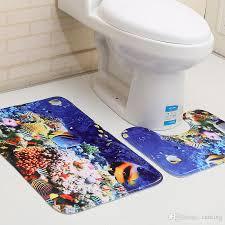 großhandel 3d wc bodenmatte 2 stück set anti rutsch matte für badezimmer bad zimmer teppich tür matte carking 9 97 auf de dhgate
