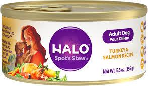 Turkey And Pumpkin For Dog Diarrhea by Halo Turkey U0026 Salmon Recipe Canned Dog Food 5 5 Oz Case Of