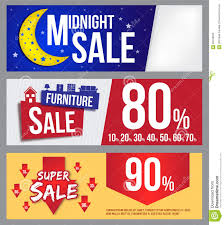 Midnight Sale Furniture And Super Banner For Commercial