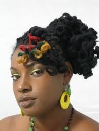 Red Gold And Green Locs Yeah Styled In A Curly Updo I Really Might Just Dye 3 Single The Back Of My Hair This Color