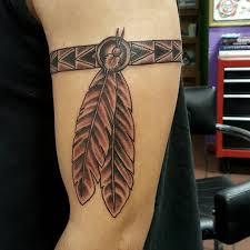 Aztec Tribal Armband Tattoo