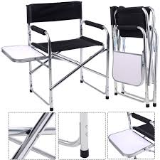 Giantex Aluminum Folding Director's Chair With Side Table Portable ... Pnic Time Red Alinum Folding Camping Chair At Lowescom Extra Large Directors Tan Best Choice Products Zero Gravity Recliner Lounge W Canopy Shade And Cup Holder Tray Gray Timber Ridge 2pack Slimfold Beach Tuscanypro Hot Rod Editiontall Heavy Duty Director Side Tray29 Seat Height West Elm Metal Butler Stand Polished Nickel Replacement Drink For Chairs By Your Table Sports Hercules Series 1000 Lb Capacity White Resin With Vinyl Padded