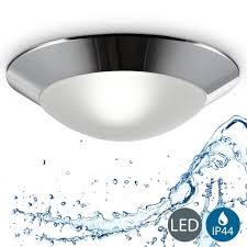 led baddeckenleuchte deckenleuchte badezimmer le rund max 40w 230v ip44 ø310 mm chrom weiß b k licht