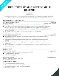 Example Of Resume Objective For Healthcare With To