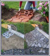 16x16 Patio Pavers Canada by Concrete Walkway Molds Canada Patios Home Decorating Ideas