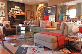 Eclectic Living Room Photo In Dallas With A Standard Fireplace And Brick