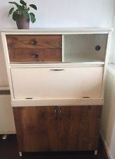 Vintage Retro FORTRESS Wood Glass Laminate 50s Kitchen Cabinet Larder