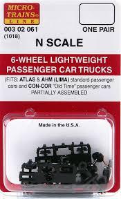 99 N Scale Trucks MicroTrains 6Wheel Lightweight Passenger Car 1018