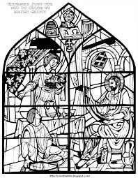 Martha And Mary Coloring Page