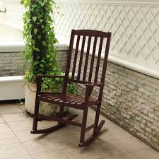 100 Wooden Outdoor Rocking Chairs Mainstays Chair Brown Walmartcom
