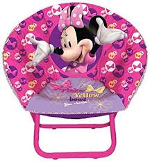 amazon com disney minnie mouse toddler saucer chair toys games