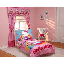 Pink Bathroom Sets Walmart by Hello Kitty Stars U0026 Rainbows 4 Piece Toddler Bedding Set Walmart Com