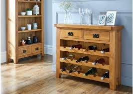 Dining Room Wine Rack Country Oak With Drawer Corner