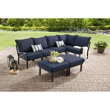 Outdoor Sectional Sofa Walmart by Mainstays Sandhill 7 Piece Outdoor Sofa Sectional Set Seats 5