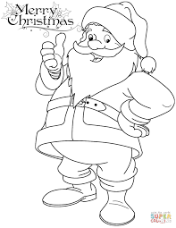 Funny Santa Claus Coloring Page And